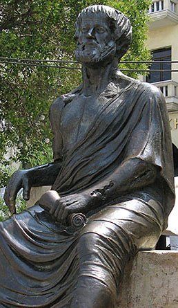 Statue of Aristotle on Aristotle Square Thessaloniki Greece